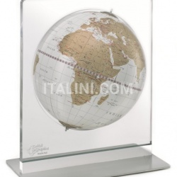 "Zofolli ""Aria"" desk globe on plexiglass frame - White/Gold - №87"