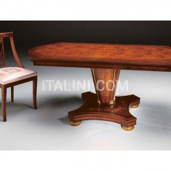 Marzorati Preciously decorated table Antiques shop  - IMPERO / Dining table with base B - №34