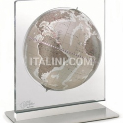 "Zofolli ""Aria"" desk globe on plexiglass frame - Warm Grey - №86"
