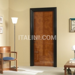 GORKY PARK 901/QQ Polished cherry Cover moulding Black lacquered Park Modern Interior Doors - №230