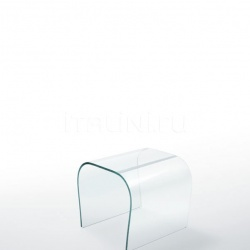 Bent Glass Bench - Bent Glass Stool - №10