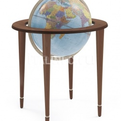 "Zofolli ""Amerigo Vespucci"" contemporary style floorstanding globe - Antique Brown/Light Blue Political - №129"