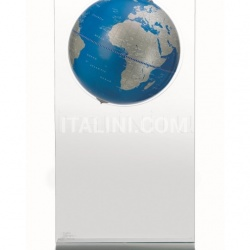 "Zofolli ""Aria"" floorstanding globe on plexiglass frame - Metallic Blue - №97"