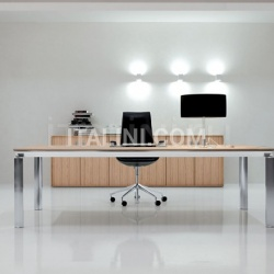 Executive office with Zebrano Chiaro Han desk, aluminium Brill structure. - №67