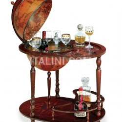"Trolley globe with drink cabinet and tray ""Giasone"" - №4"