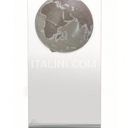 "Zofolli ""Aria"" floorstanding globe on plexiglass frame - Warm Grey - №95"