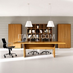 Ideal Form Team Pratiko Steel Walnut Meeting Table - №22
