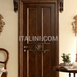 "HERMITAGE 6016/QQ/INT. Tulipwood antique dark silver walnut fin. with ""Fleur-de-lis"" carving Classic Wood Interior Doors - №40"