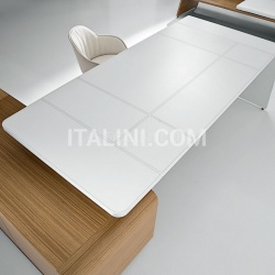 Ideal Form Team Sestante White Leather Desk - №12