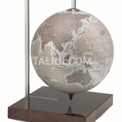 "Zofolli ""Quadra"" desk globe on burl base - Warm Grey - №92"