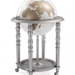 "Zofolli ""Elegance"" bar globe on casters - Metallic Grey/White - №107"