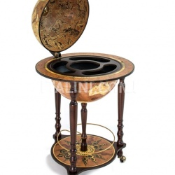 "Zofolli ""Da Vinci"" floorstanding globe drinks cabinet on wheels - Rust - №29"