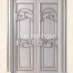 QUIRINALE 1023/QQ brushed gray ash topcoat with silver Classic Wood Interior Doors - №70