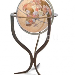 """Flute"" floorstanding contemporary globe with corten steel finishing - №136"