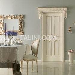 HERMITAGE 6016/QQ/SWA Polished aged silver with Four-leaf clover carving with Swarovski inserts Classic Wood Interior Doors - №42