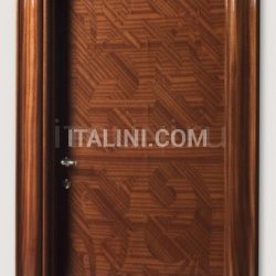 CENTRAL PARK 901/QQ Inlaid sliced veneer in coated mahogany, Cover moulding Klee Modern Interior Doors - №228