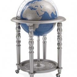 "Zofolli ""Elegance"" bar globe on casters - Metallic Grey/Blue - №108"