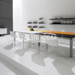 Han lacquered table with Bianco, Nero, Arancio and Senape tops. - №65