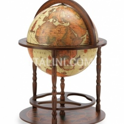 "Zofolli Vintage bar globe with wide lower shelf ""Calipso"" - Safari - №49"