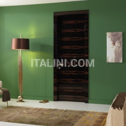 Giudetto Maxi 1011/QQ/H Gloss brushed Macassar ebony. Modern Interior Doors - №159