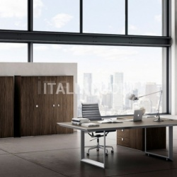 Ideal Form Team 45/90 White Leather Meeting Table - №6