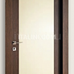 Mart Stam 1913/QQ/PL Wenge brush stained oak RAL 1013 glossy lacquered panel. Modern Interior Doors - №184