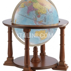 "Zofolli ""Mercatore 60"" floorstanding globe on wooden base - Light Blue Political - №140"
