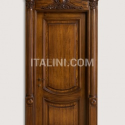 LUIGI XVI 4014/QQ  Italian walnut glossy Maggiolino inlay finish with wall panelling Classic Wood Interior Doors - №38