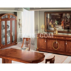 Marzorati Hand worked display cabinets Dining room  - IMPERO / Display cabinet with 3 doors - №38