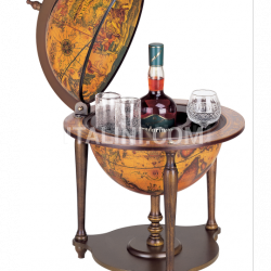 "Zofolli ""Nano"" desk bar globe with wooden base - Ebony - №156"