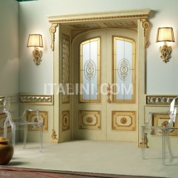 RE SOLE 3014/TQR/INT. INF./V  with TQR Re Sole New lowered arch doorway and panelling on the wall and frame with quilted Classic Wood Interior Doors - №27