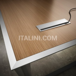 45/90 White Leather Meeting Table - №11