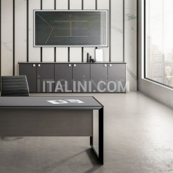 Ideal Form Team 45/90 White Leather Meeting Table - №9