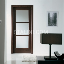 BUONTALENTI 1205/QQ/V Wenge with white frosted glass Modern Interior Doors - №210