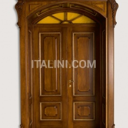 RE SOLE 3014/QQ  with TQ Re Sole New fan semicircular radial doorway with cathedral glass and panelling on the frame Classic Wood Interior Doors - №25