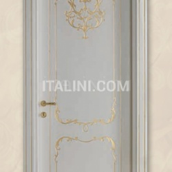 VILLA TORRIGIANI 5020/QQ casing CF 14 brushed gold with shiny topcoat Classic Wood Interior Doors - №72