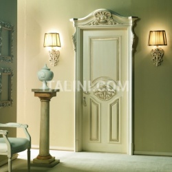 PALAZZO D'INVERNO 5016/QQ/INT. Aged coated silver Classic Wood Interior Doors - №32
