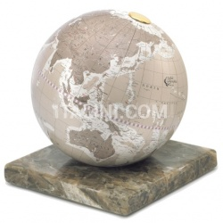 "Zofolli ""Stone"" desk globe on marble base - Warm Grey - №89"