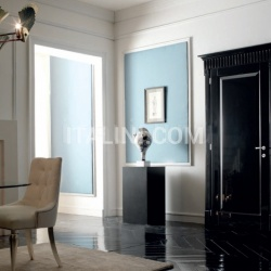 KORINTHOS 1393/QQ Glossy black 100 gloss lacquered casing with cyma korintos Modern Interior Doors - №220