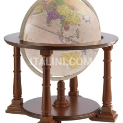 "Zofolli ""Mercatore 60"" floorstanding globe on wooden base - Pink Political - №141"