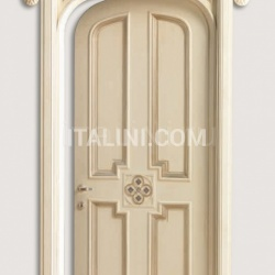HERMITAGE 6016/TQR/SWA  Polished aged silver with Four-leaf clover carving with Swarovski inserts Classic Wood Interior Doors - №41