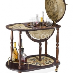 """Venere"" trolley bar globe with serving tray - №17"