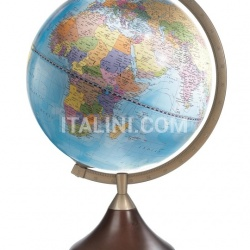 """Coronelli"" educational desk globe with wooden base - Light Blue Political - №119"