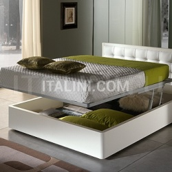 LUNA  line, white ash-wood _ DAMA bed with storage container - №33