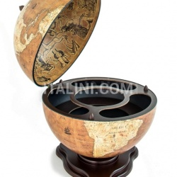 "Zofolli ""Galileo"" desk globe drinks cabinet - Rust - №26"