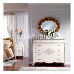 Marzorati Classic style units with drawers Hotel  - OLIMPIA B / Ivory lacquered chest of drawers - №58