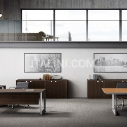 Ideal Form Team 45/90 White Leather Meeting Table - №7