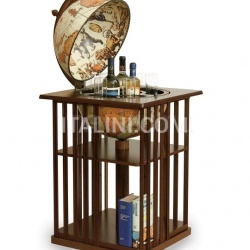 "Zofolli Bar globe with bookshelf ""Dafne"" - Safari - №43"