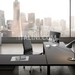 45/90 White Leather Meeting Table - №2