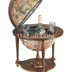 "Zofolli ""Nano"" desk bar globe with wooden base - Ivory - №153"